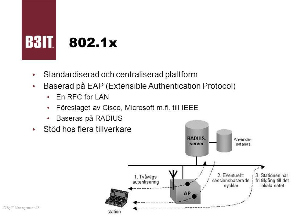802.1x Standardiserad och centraliserad plattform