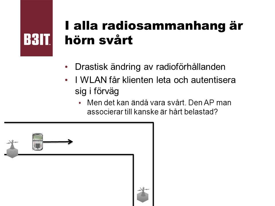 I alla radiosammanhang är hörn svårt