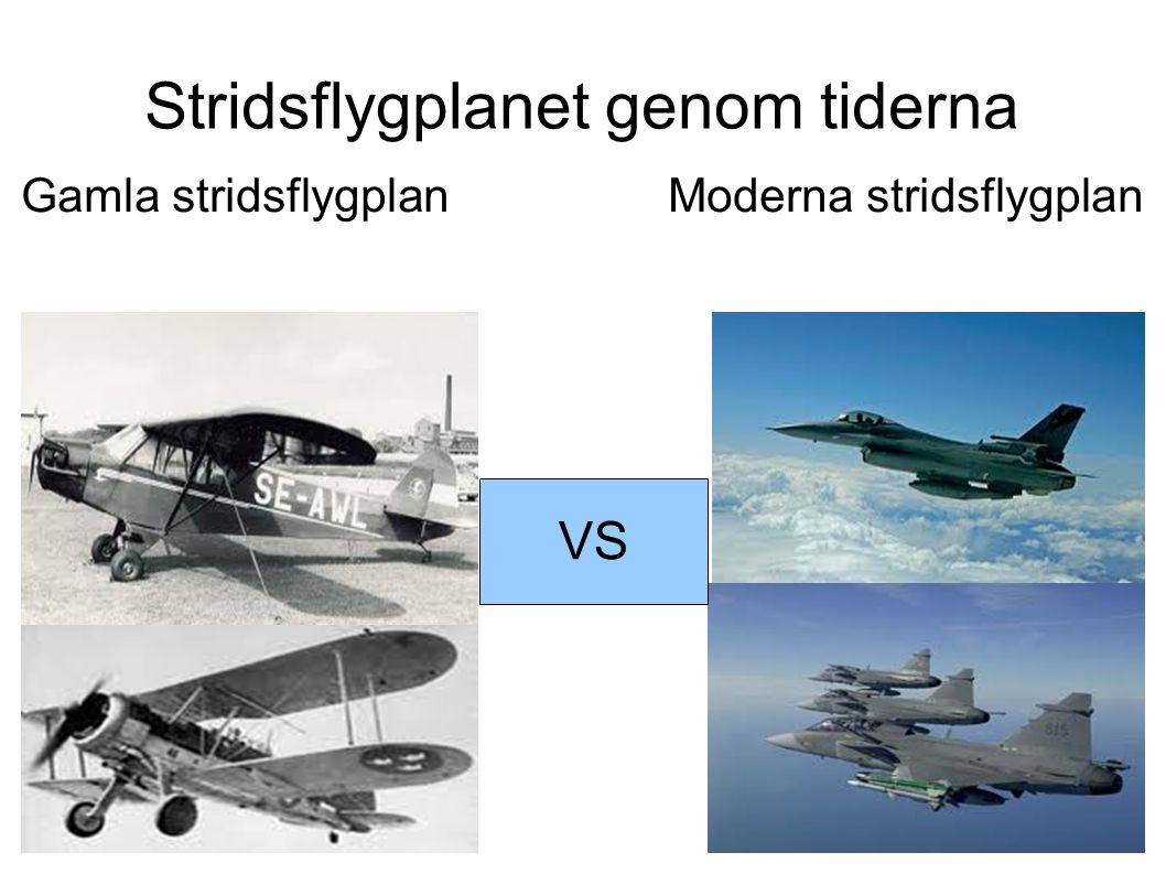 Stridsflygplanet genom tiderna