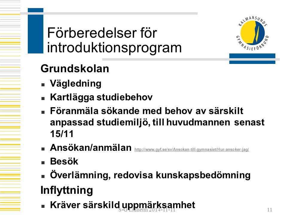 Förberedelser för introduktionsprogram