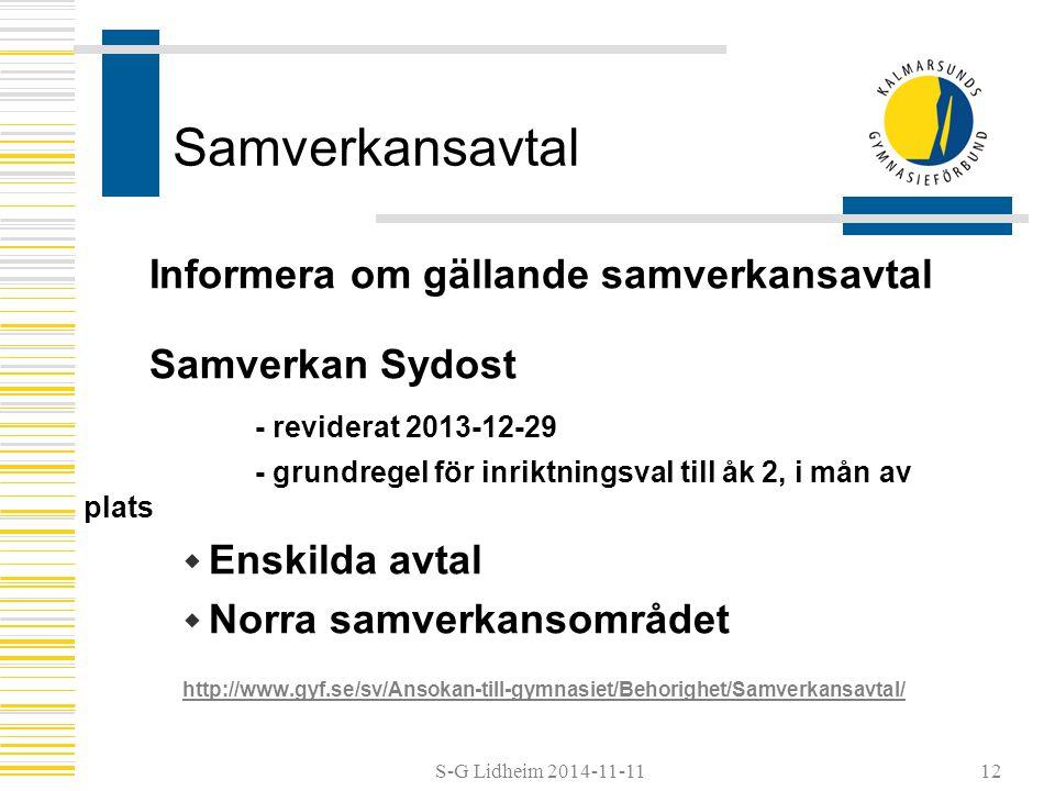 Samverkansavtal Informera om gällande samverkansavtal Samverkan Sydost