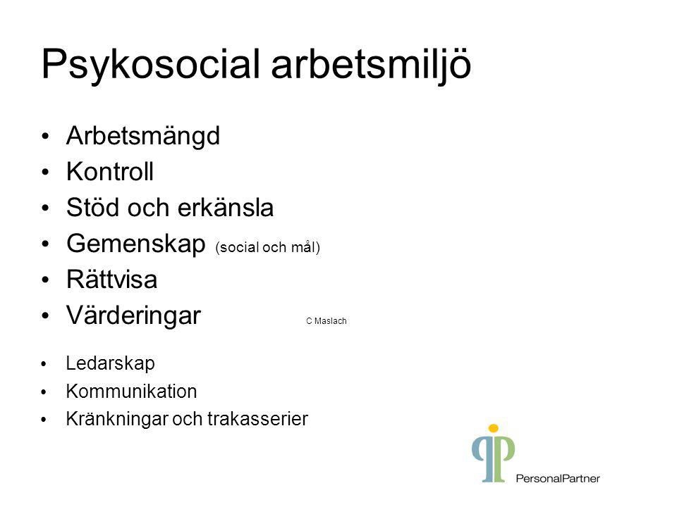 Psykosocial arbetsmiljö