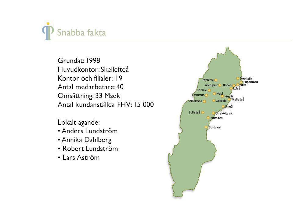 Snabba fakta Grundat: 1998 Huvudkontor: Skellefteå