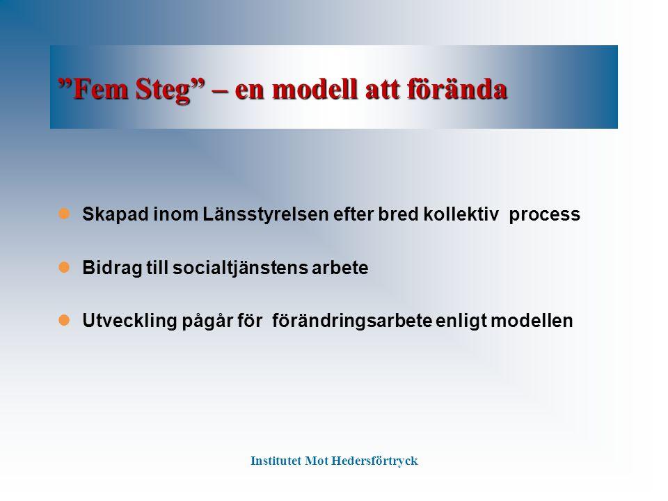 Fem Steg – en modell att förända