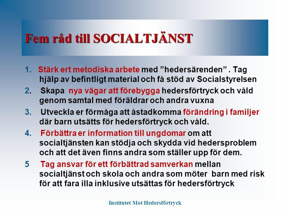 Fem råd till SOCIALTJÄNST