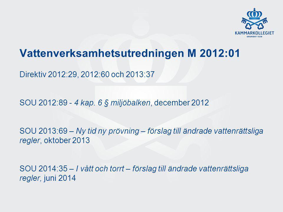 Vattenverksamhetsutredningen M 2012:01