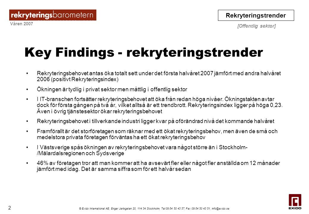 Key Findings - rekryteringstrender