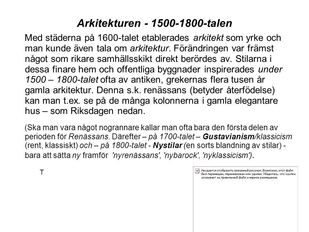 Arkitekturen - 1500-1800-talen