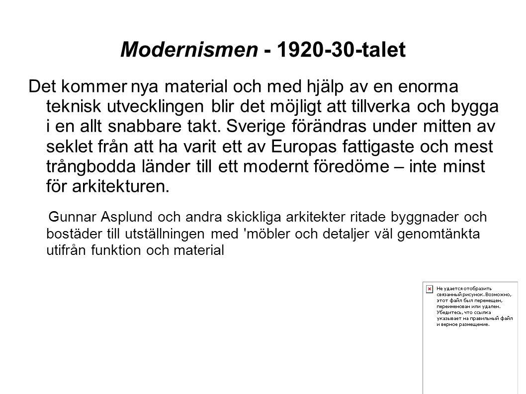 Modernismen - 1920-30-talet