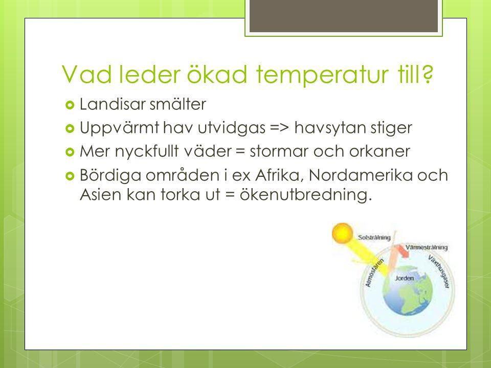 Vad leder ökad temperatur till