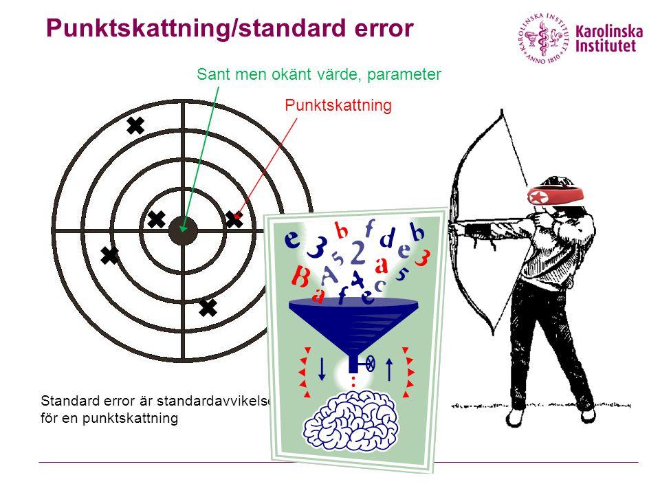 Punktskattning/standard error
