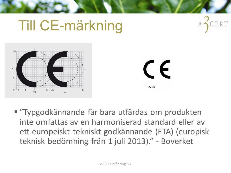 Typgodkännande ce märkning