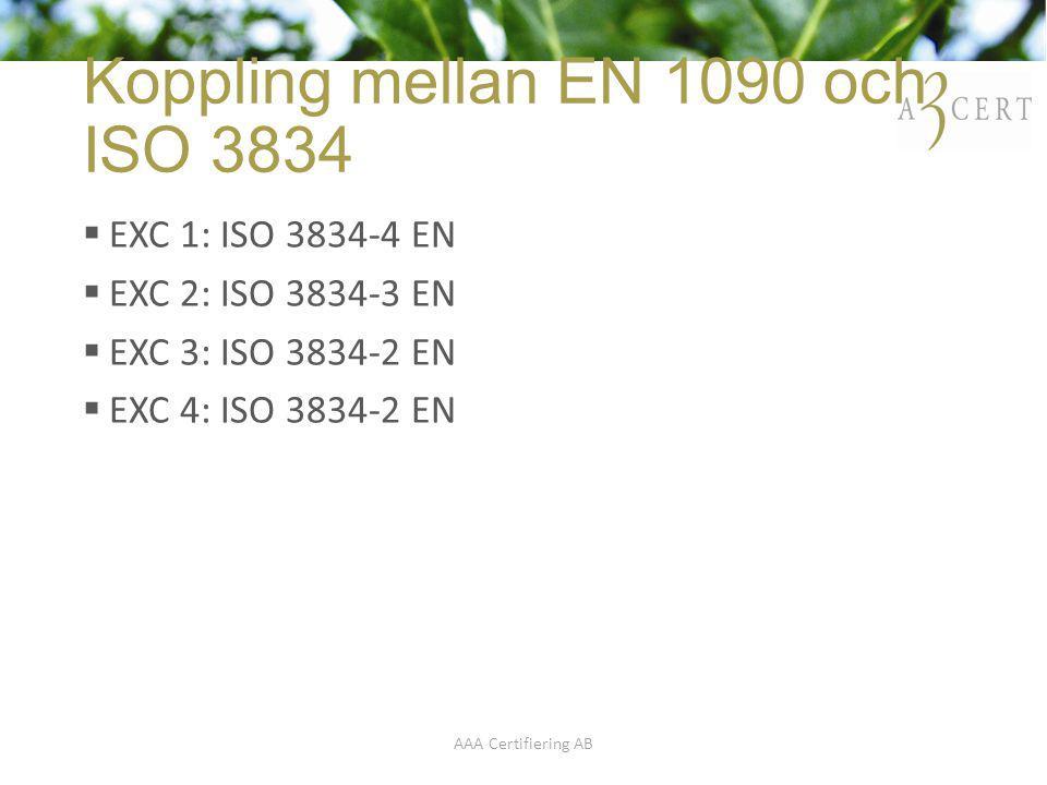 Koppling mellan EN 1090 och ISO 3834