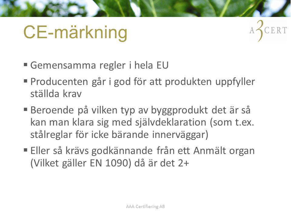 CE-märkning Gemensamma regler i hela EU