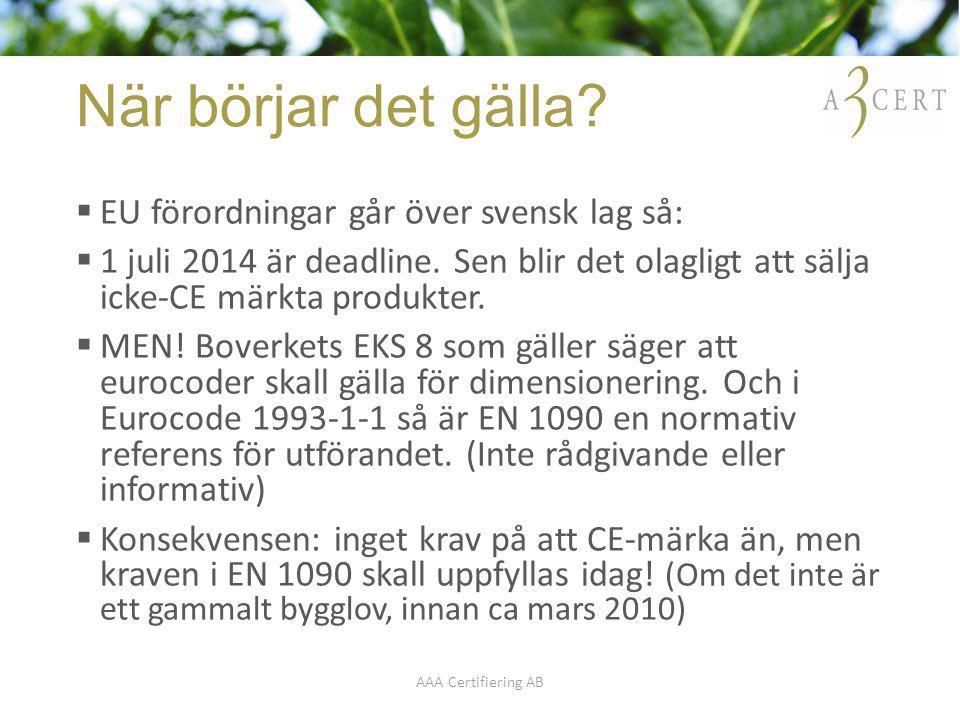När börjar det gälla EU förordningar går över svensk lag så: