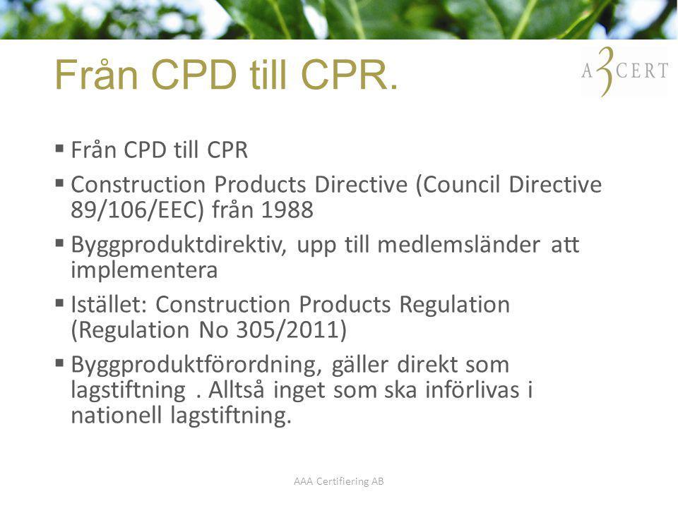 Från CPD till CPR. Från CPD till CPR