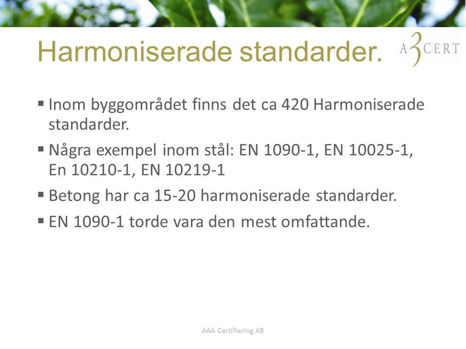 Harmoniserade standarder.