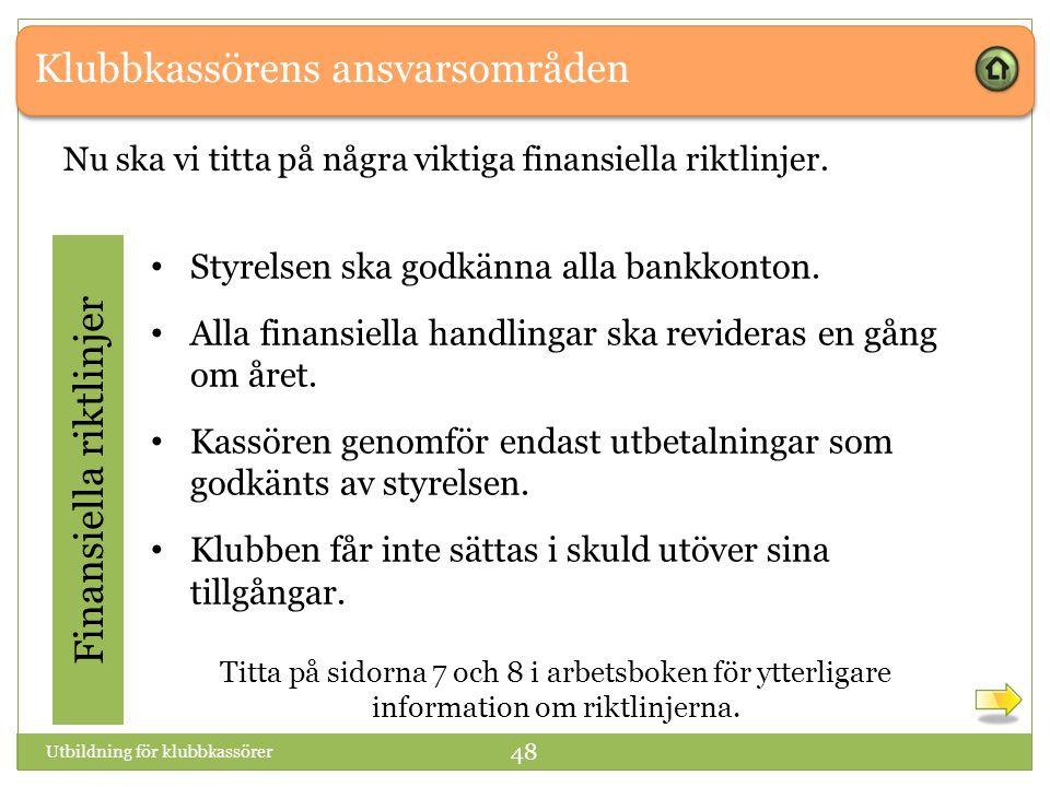 Finansiella riktlinjer