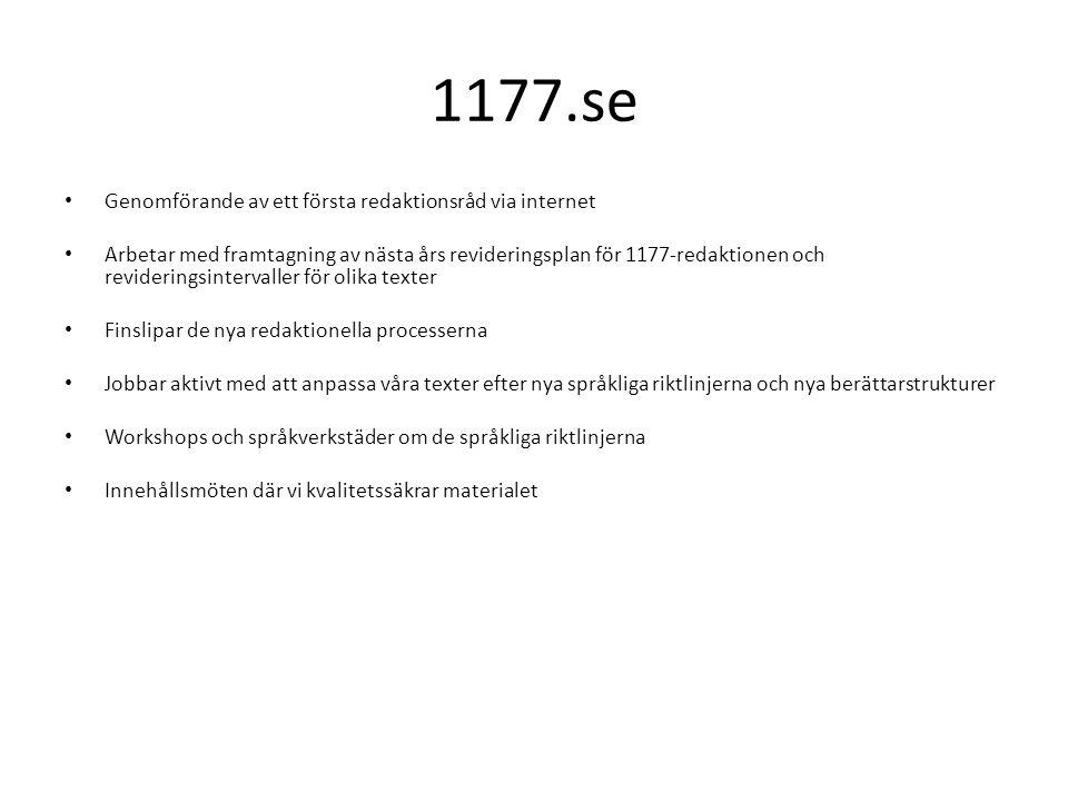 1177.se Genomförande av ett första redaktionsråd via internet