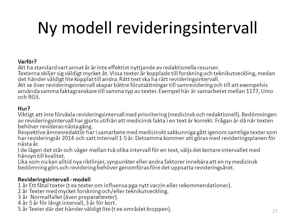 Ny modell revideringsintervall