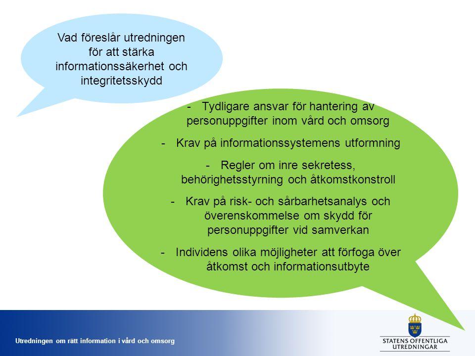 Tydligare ansvar för hantering av personuppgifter inom vård och omsorg