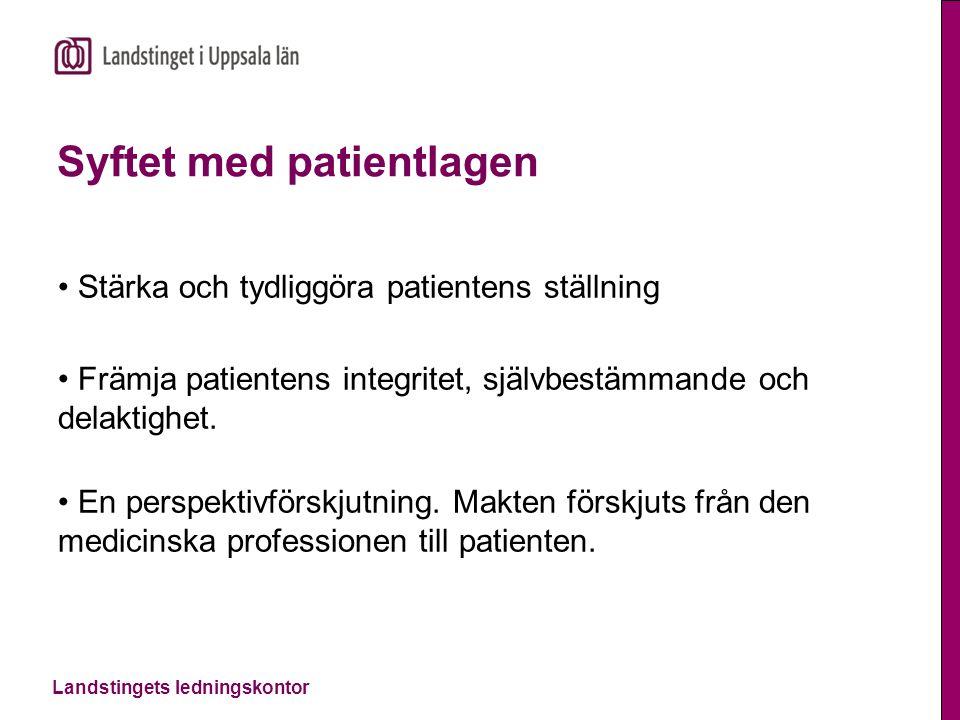 Syftet med patientlagen