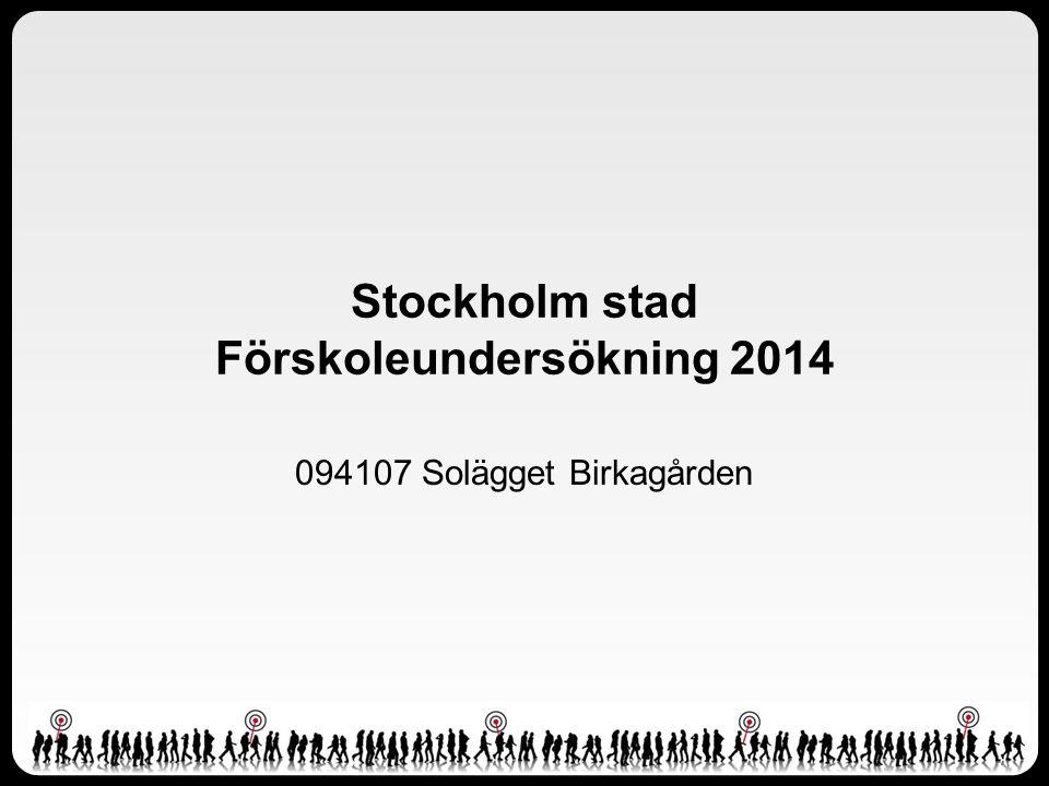 Stockholm stad Förskoleundersökning 2014