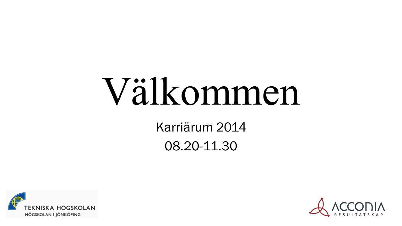 Välkommen Karriärum 2014 08.20-11.30