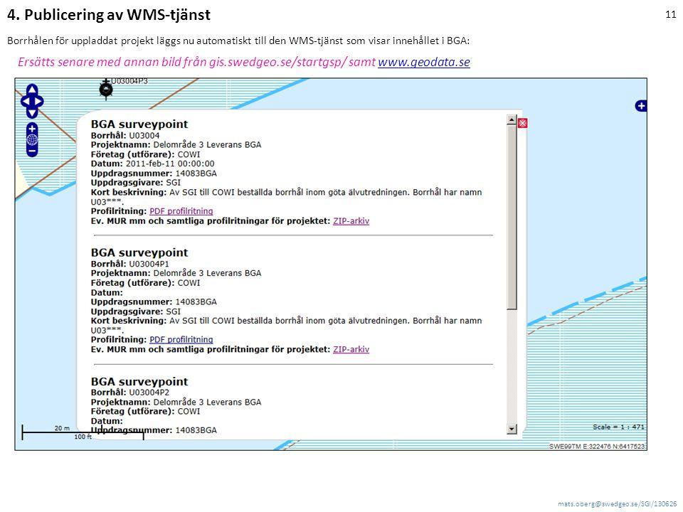 4. Publicering av WMS-tjänst