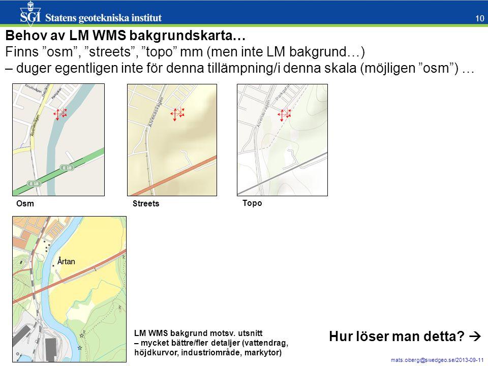 Behov av LM WMS bakgrundskarta…