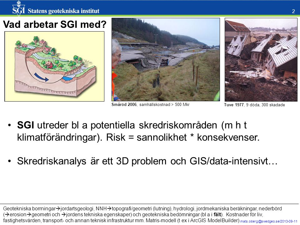 Skredriskanalys är ett 3D problem och GIS/data-intensivt…