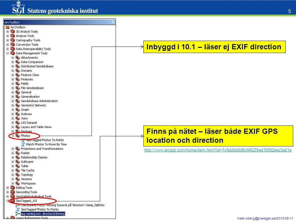 Inbyggd i 10.1 – läser ej EXIF direction