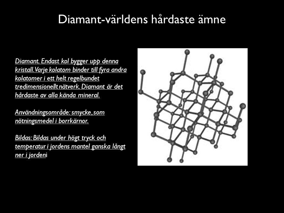 Diamant-världens hårdaste ämne