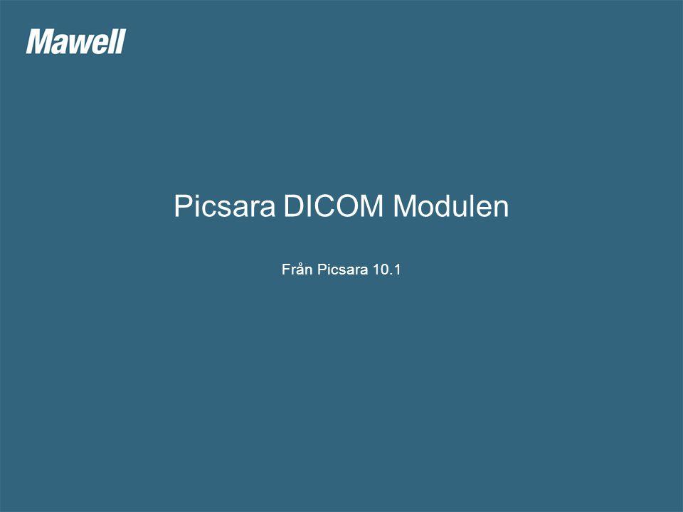 Picsara DICOM Modulen Från Picsara 10.1