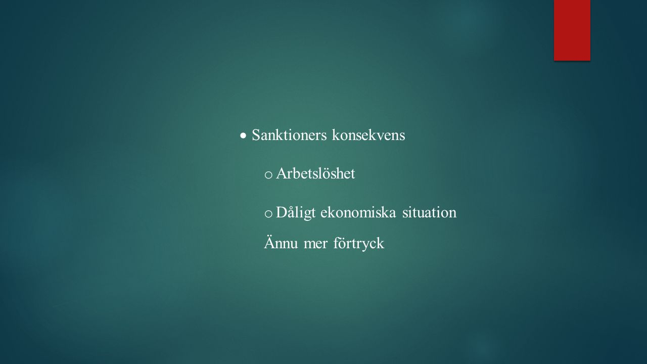 Sanktioners konsekvens