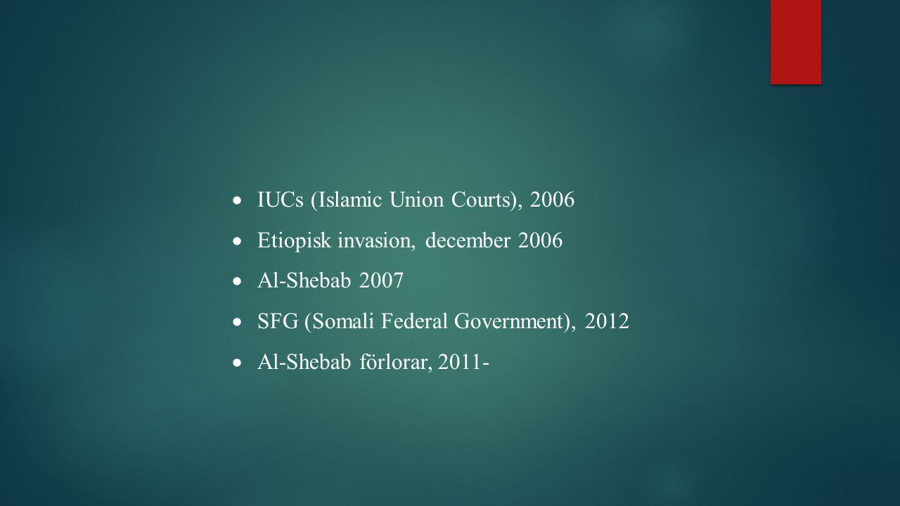 IUCs (Islamic Union Courts), 2006