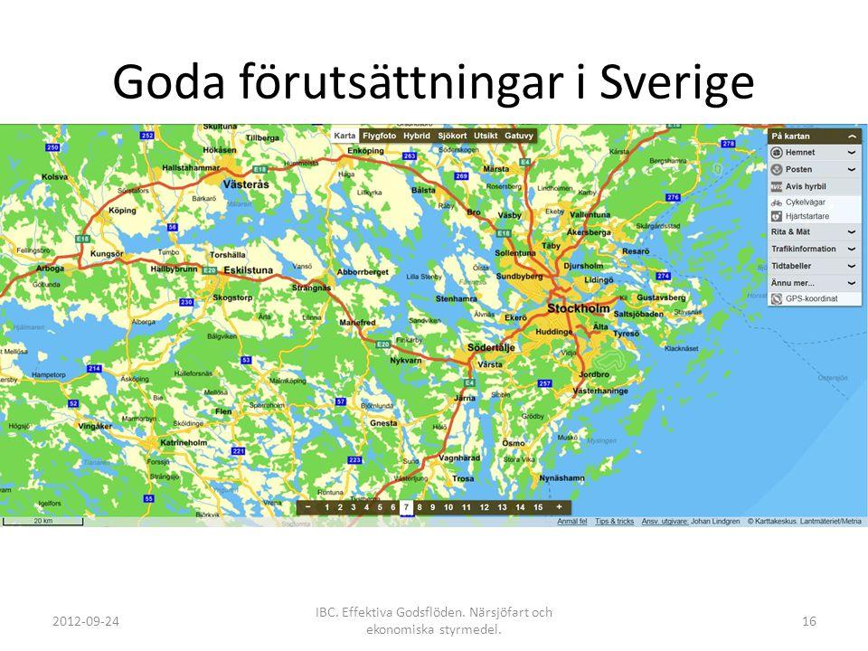 Goda förutsättningar i Sverige