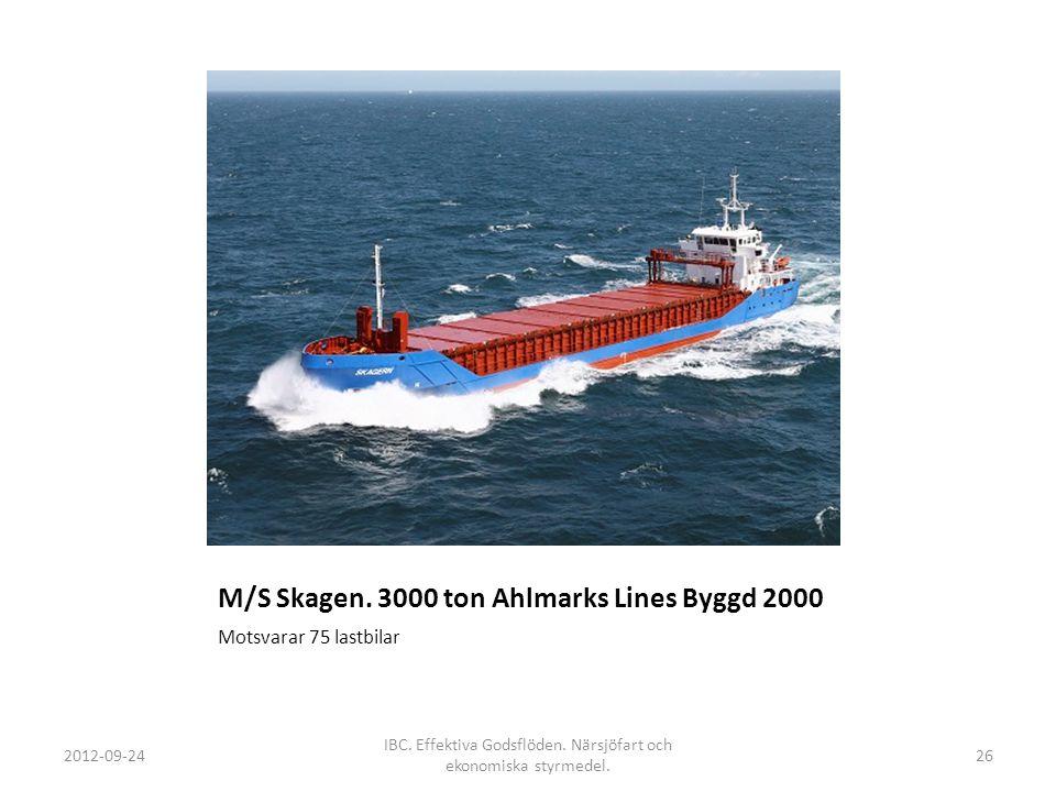 M/S Skagen. 3000 ton Ahlmarks Lines Byggd 2000
