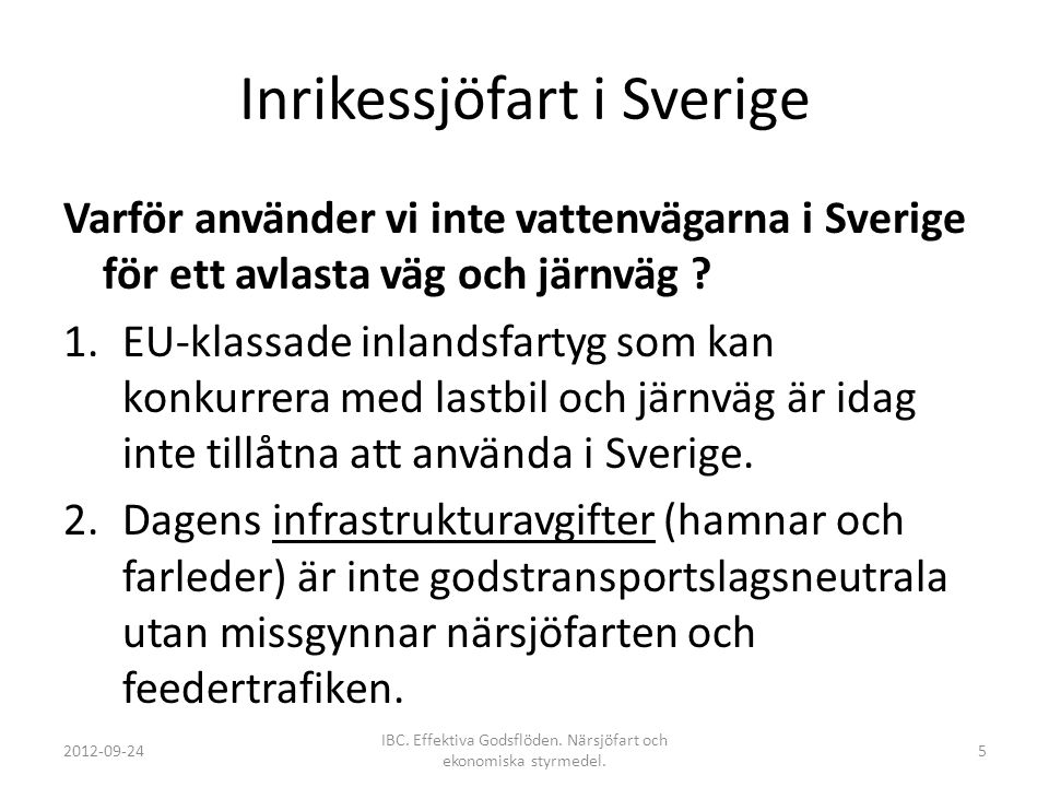 Inrikessjöfart i Sverige
