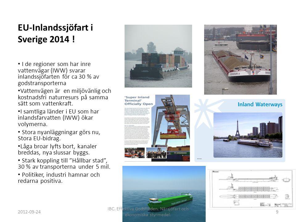 EU-Inlandssjöfart i Sverige 2014 !