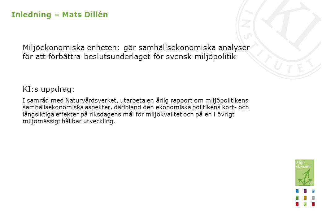 Inledning – Mats Dillén