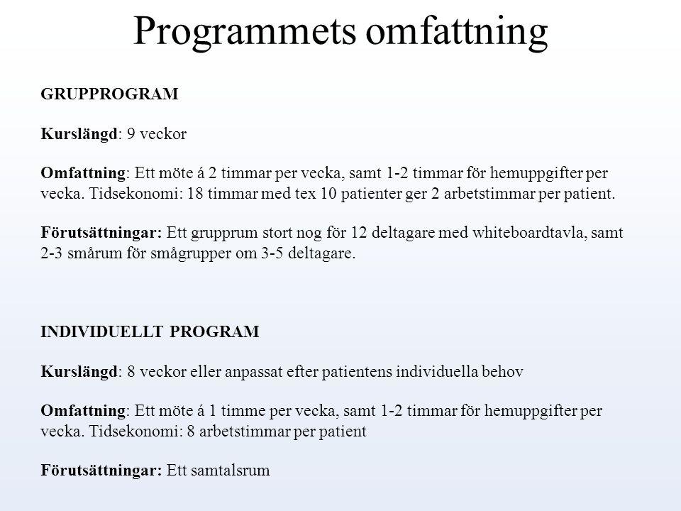 Programmets omfattning