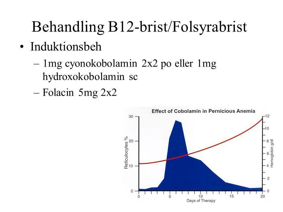 Behandling B12-brist/Folsyrabrist