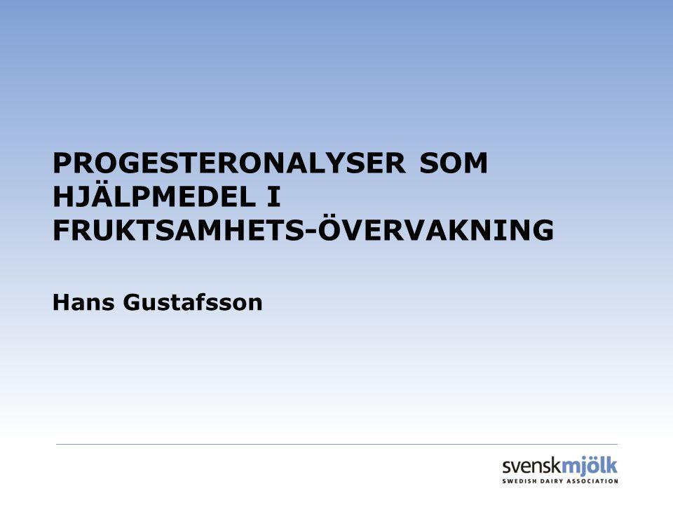 PROGESTERONALYSER SOM HJÄLPMEDEL I FRUKTSAMHETS-ÖVERVAKNING