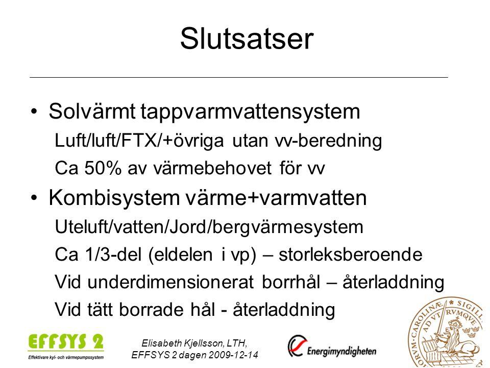Elisabeth Kjellsson, LTH, EFFSYS 2 dagen 2009-12-14
