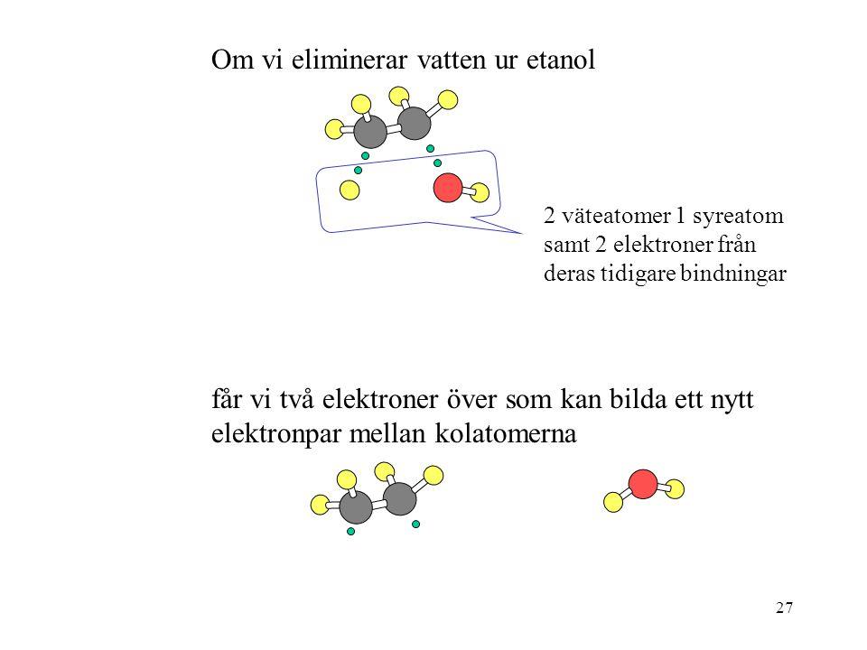 Om vi eliminerar vatten ur etanol