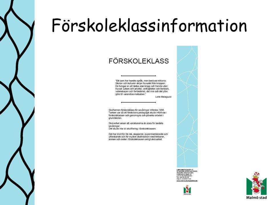 Förskoleklassinformation
