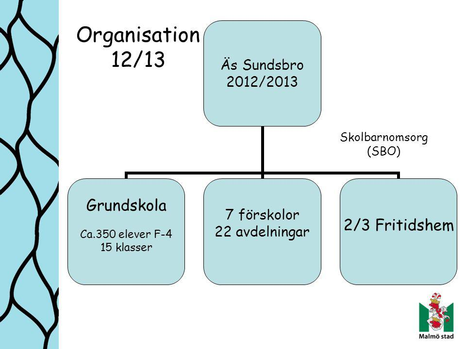 Organisation 12/13 Skolbarnomsorg (SBO)