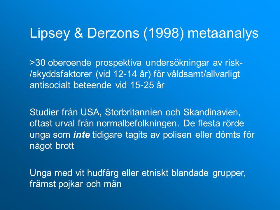 Lipsey & Derzons (1998) metaanalys