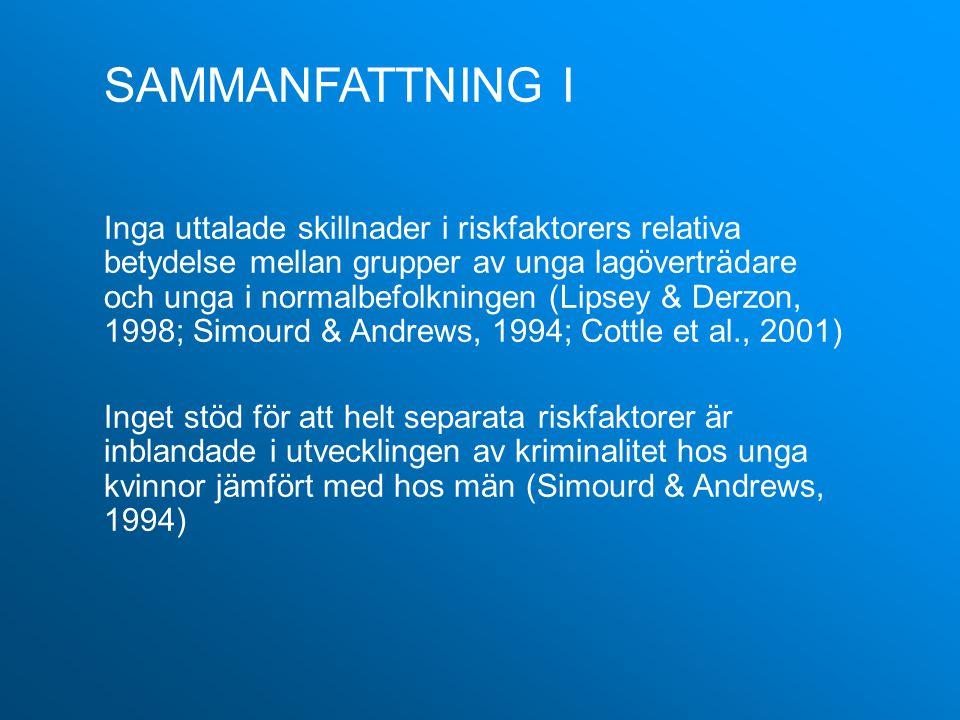 SAMMANFATTNING I